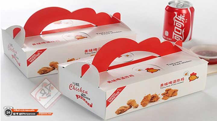 چاپ جعبه مرغ سوخاری | تولید جعبه مرغ سوخاری | جعبه بسته بندی مرغ سوخاری | قیمت جعبه سوخاری | جعبه کنتاکی | جعبه سوخاری فست فود | پاکت فست فود | جعبه سوخاری | تولید کننده جعبه سوخاری | تولید جعبه سوخاری در تهران | ساخت انواع بسته بندی سوخاری | پخش عمده جعبه مرغ سوخاری | چاپ اختصاصی جعبه مرغ سوخاری | جعبه مرغ سوخاری ارزان | طراحی انواع جعبه کنتاکی