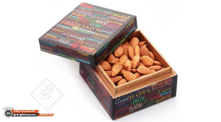 سفارش جعبه بادام | جعبه بادام صادراتی | جعبه مقوایی بادام | طراحی و تولید انواع جعبه بادام | ساخت بسته بندی بادام | کارتن بادام | قیمت جعبه بادام | جعبه بادام ارزان قیمت | چاپ جعبه بادام | چاپ اختصاصی بسته بندی بادام | پخش عمده جعبه بادام در تهران | ساخت جعبه صادراتی بادام | جعبه خشکبار | طراحی جعبه خشکبار صادراتی | بسته بندی انواع خشکبار صادراتی | جعبه بادام زمینی | جعبه بادام درختی